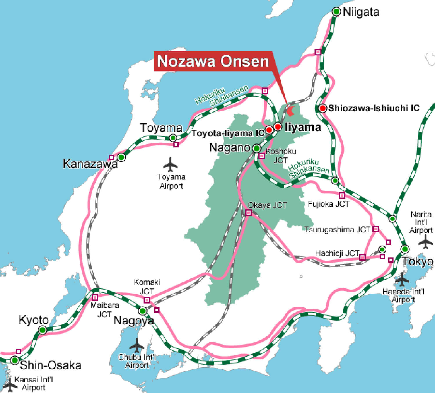 NOZAWAONSEN MAP
